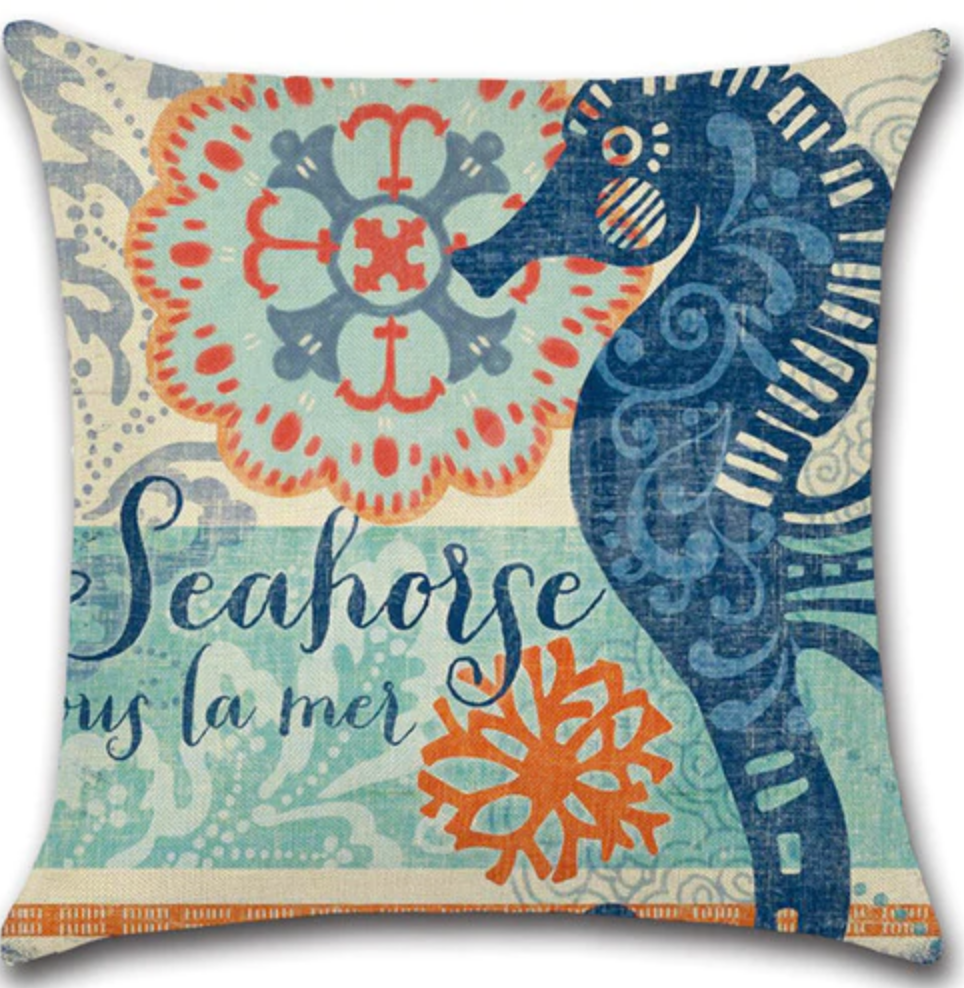 Pillow Covers - Seahorse II