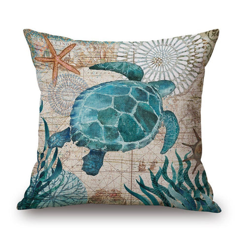 Pillow Covers - Sea Turtle