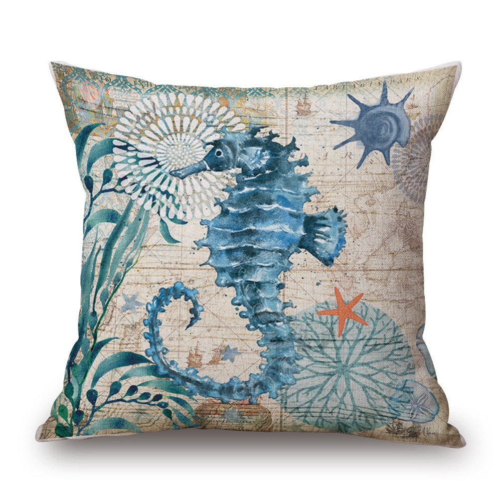 Pillow Covers - Seahorse