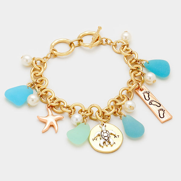 Life is Better at the Beach Charm Bracelet