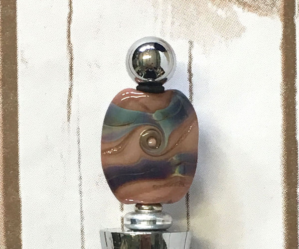 Wine/Bottle Stopper - Handmade Lampwork Bead - Shoreline
