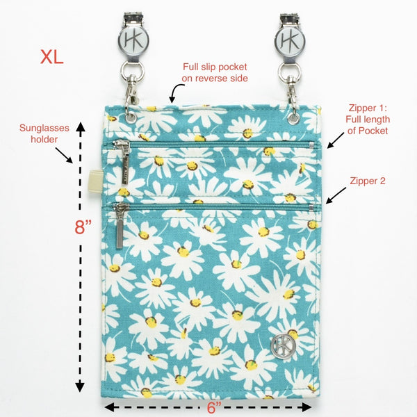 Hip Klip - XL Daisy-Teal