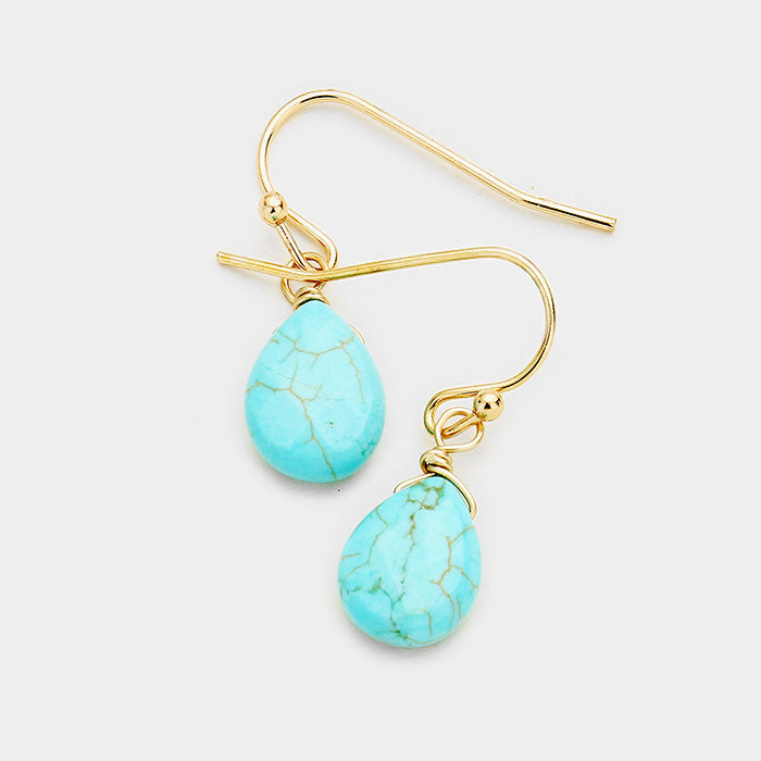 Earrings - Turquoise Dangle