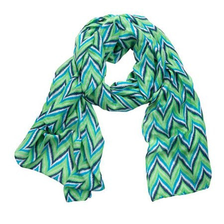 Wrap - Green/Blue/White Chevron