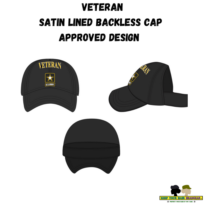 Official Licensed U.S. Army Veteran Satin Lined Backless Cap (R)