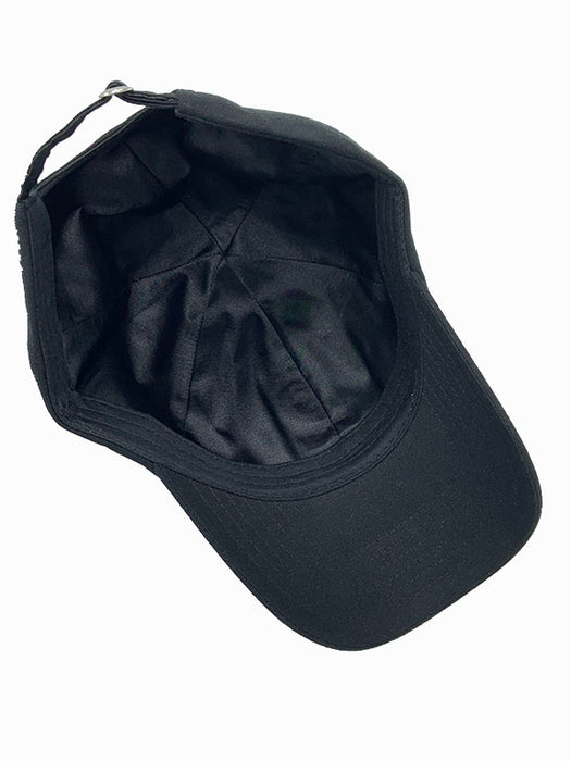 Subdued Black US Flag (Embroidered) - Satin Lined Full Baseball Cap
