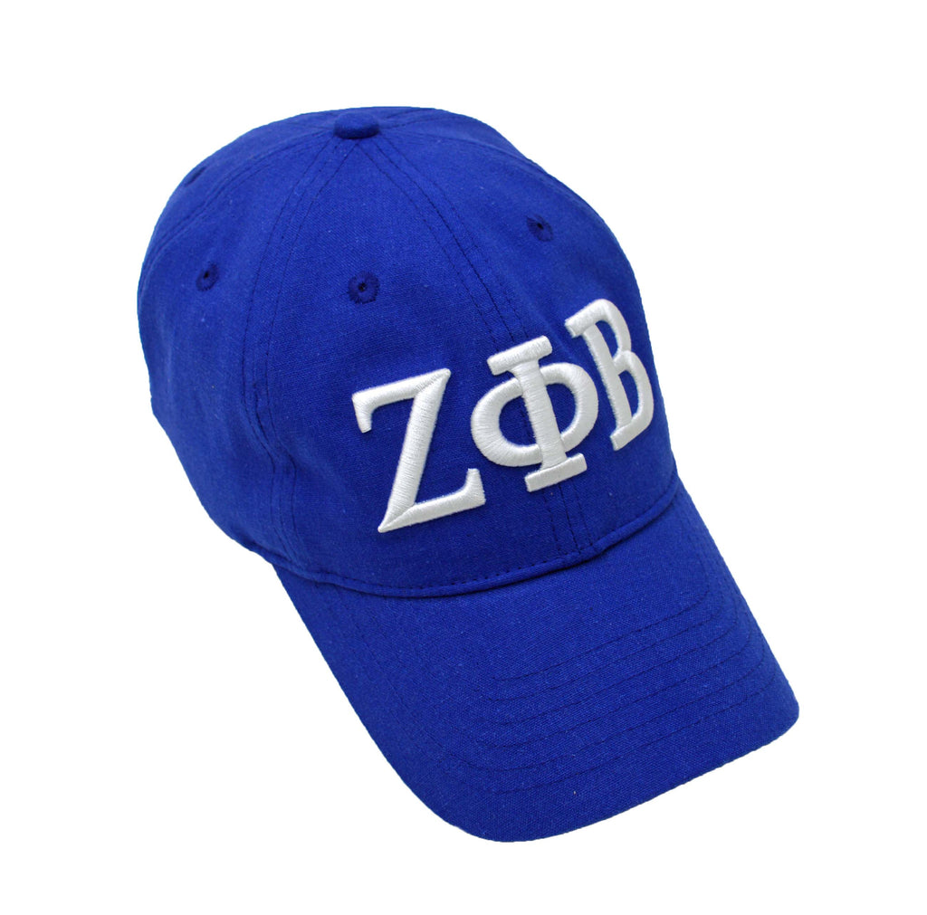 Official Licensed Zeta Phi Beta - Satin Lined Linen Baseball Cap (TM) - Keep Your Hair Headgear, LLC