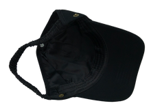 Black Backless Cap (Optional Removable Face Shield)