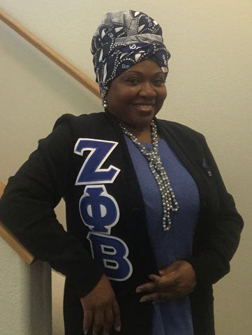 Zeta Phi Beta Headwrap (Satin Lined)