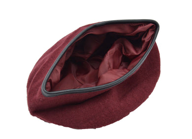 Military Beret, Maroon (Silk Lined) (TM) - Keep Your Hair Headgear, LLC
