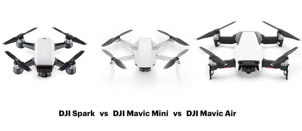 DJI Mavic Mini Vs DJI Spark Vs Mavic Air (Model Comparison)