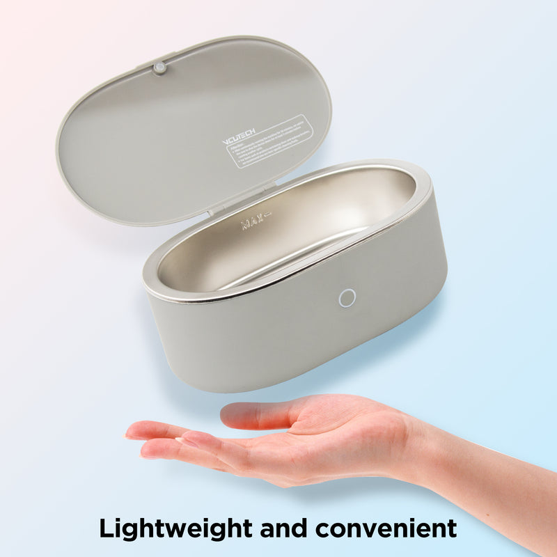 Ultrasonic Jewelry Cleaner Portable and Low Noise Ultrasonic Machine for Jewelry, Ring, Silver, Retainer, Eyeglass, Watches, Coins, 500ML, 45KHz