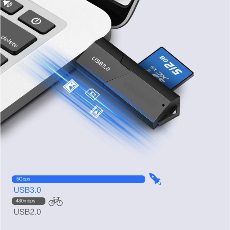 VCUTECH USB 3.0 Portable Card Reader for SD, SDHC, SDXC, MicroSD, MicroSDHC, MicroSDXC, with Advanced All-in-One Design-Accessories-VCUTECH-Vancity-UAV