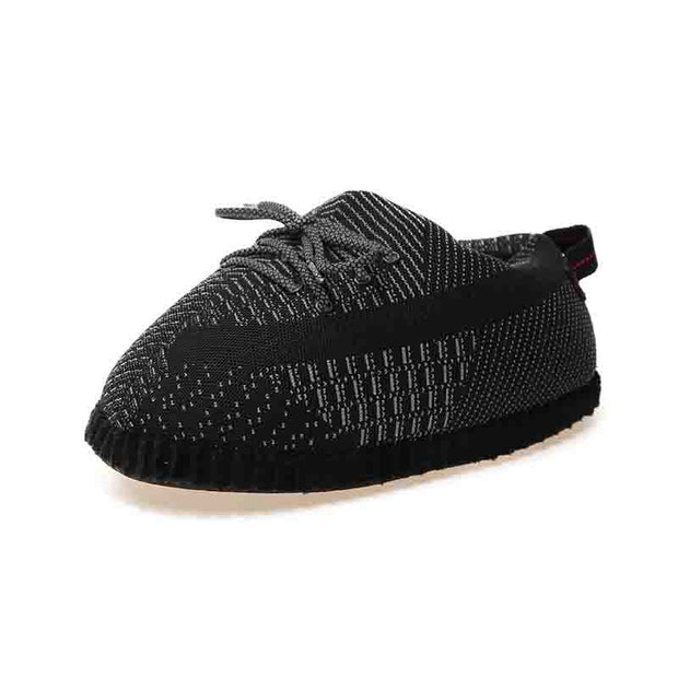 YZY Black Plush Slippers