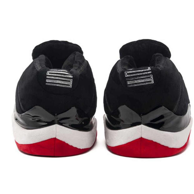 11 Bred Plush Slippers