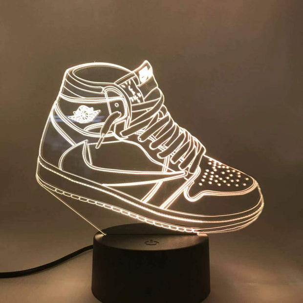 3D Sneaker LED AJ 1 Travis Scott
