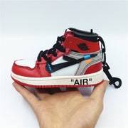 AJ1 OW Chicago Sneaker Bag Charm - 3D Kicks Tech