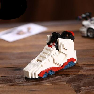"Air Jordan VI ""Infrared White"" Sneaker LEGO - 3D Kicks Tech"
