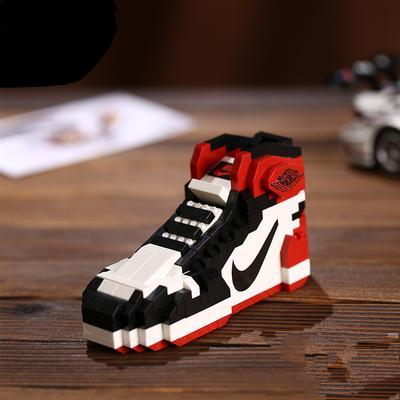 "Air Jordan 1 ""Black Toe"" Sneaker LEGO - 3D Kicks Tech"