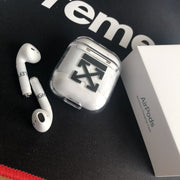 Off-White Affect AirPods Clear Hard Case