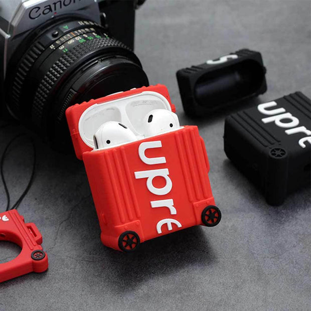 Supreme Suitcase Style Inspired Airpods Case - 3D Kicks Tech