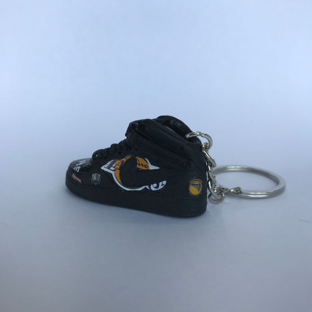 AF 1 Supreme Black 3D Keychain - 3D Kicks Tech