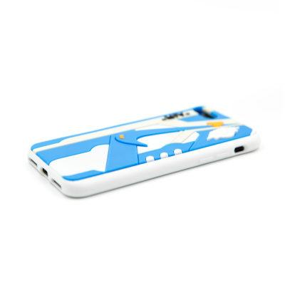 Off-White x Air Jordan 1 UNC 3D Sneaker iPhone Case