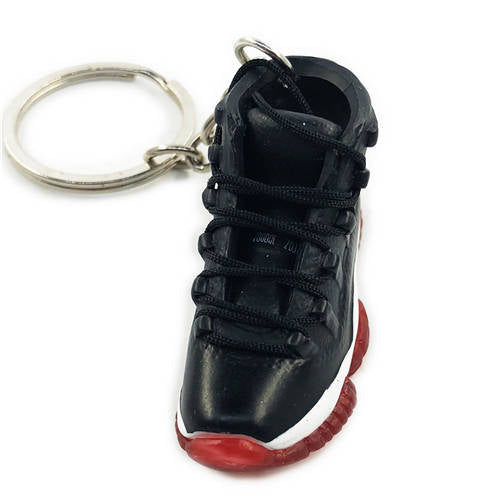 Air Jordan 11 Bred 3D Keychain - 3D Kicks Tech