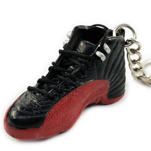 AJ12 Flu Game 3D Keychain - 3D Kicks Tech