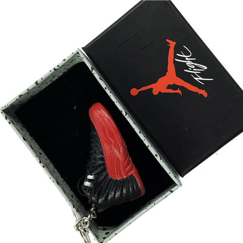 Air Jordan 12 Flu Game 3D Keychain - 3D Kicks Tech