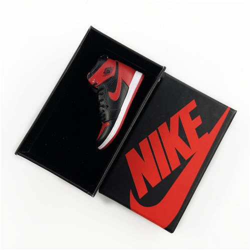 Air Jordan 1 Bred 3D Keychain - 3D Kicks Tech