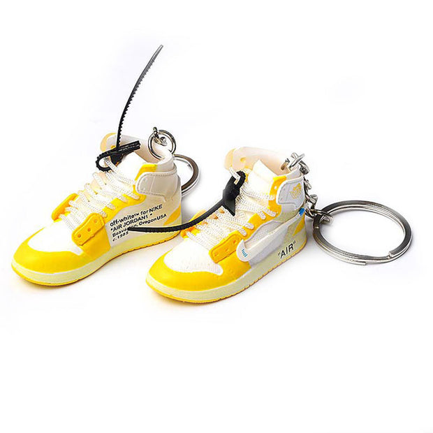 AJ1 Off-White Yellow 3D Keychain