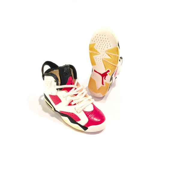 AJ6 Infrared Carmine 3D Keychain - 3D Kicks Tech