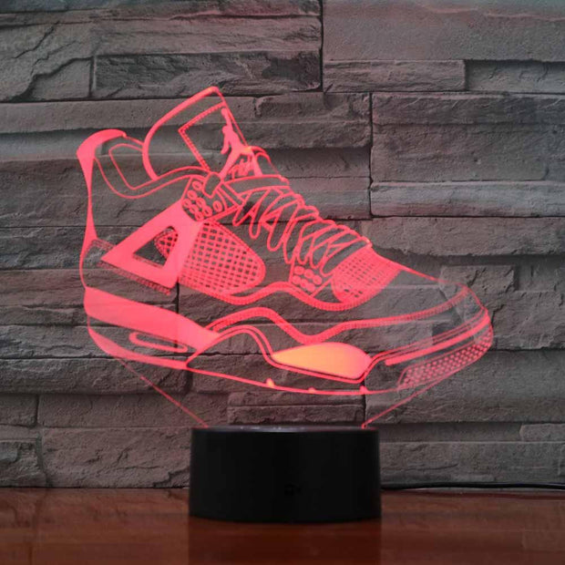 3D Sneaker LED Air Jordan 4