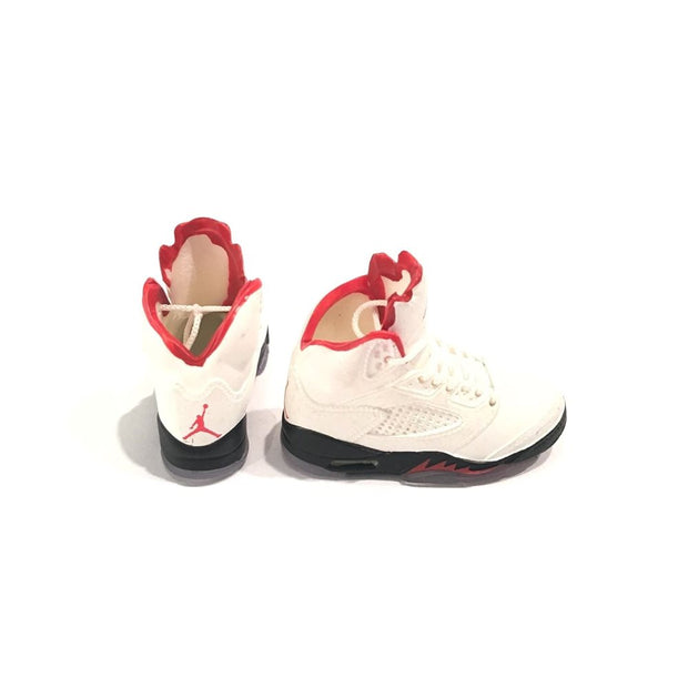 AJ5 Fire Red 3D Keychain - 3D Kicks Tech