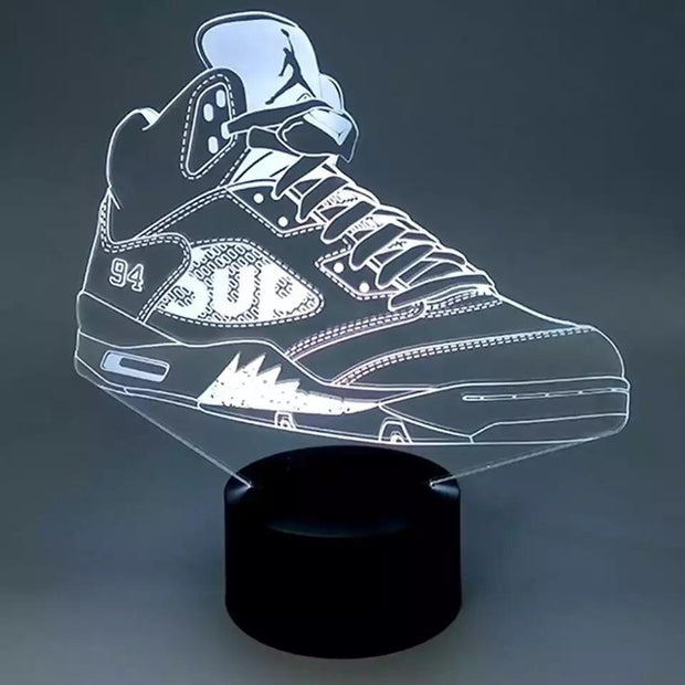 3D Sneaker LED Air Jordan 5 Supreme