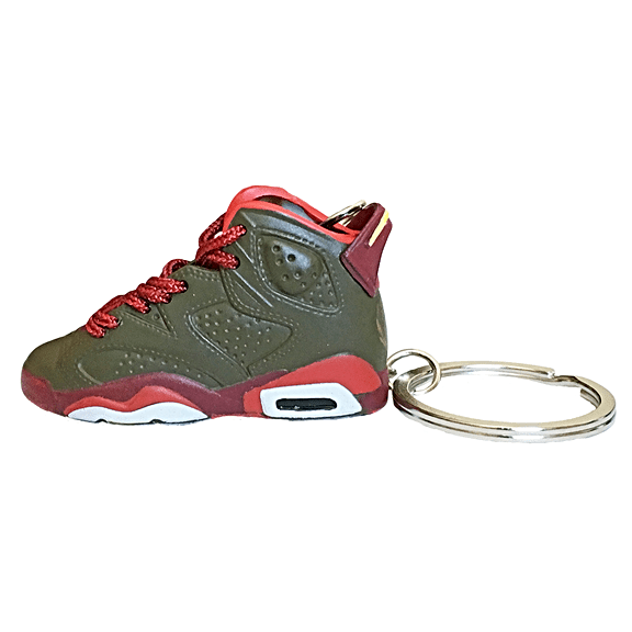 Air Jordan 6 Cigar 3D Keychain - 3D Kicks Tech