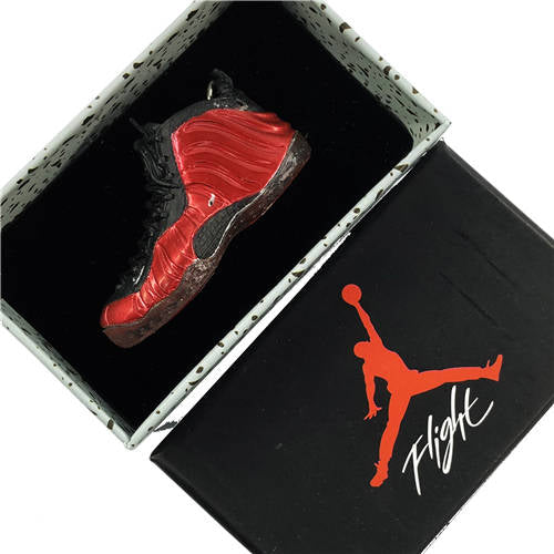 Air Foamposite Metalic Red 3D Keychain - 3D Kicks Tech