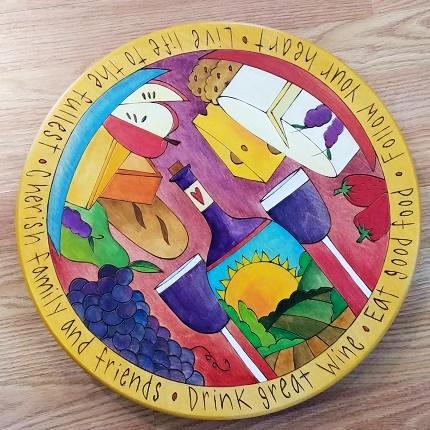 "Sticks Lazy Susan 16""-Eat Good Food"