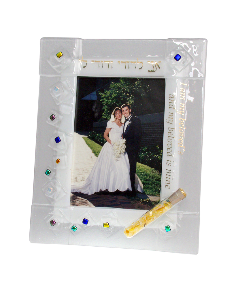 Wedding Picture Frame with Shards Tube