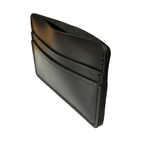 Leather Card Holder Wallet - Black