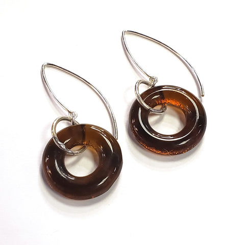 Boomerang Earrings-Amber