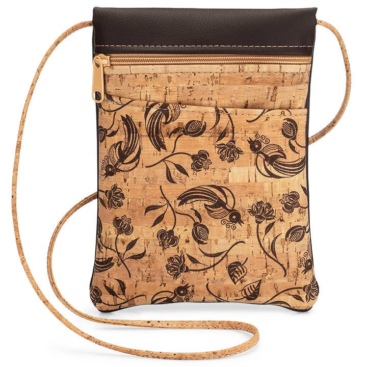 Mini Crossbody Cork Purse-Whistler Print