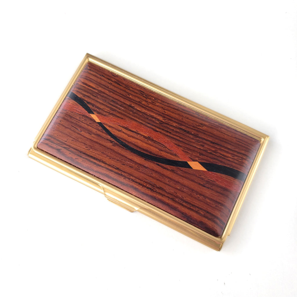 Business Card Case-Cocobolo Inlay