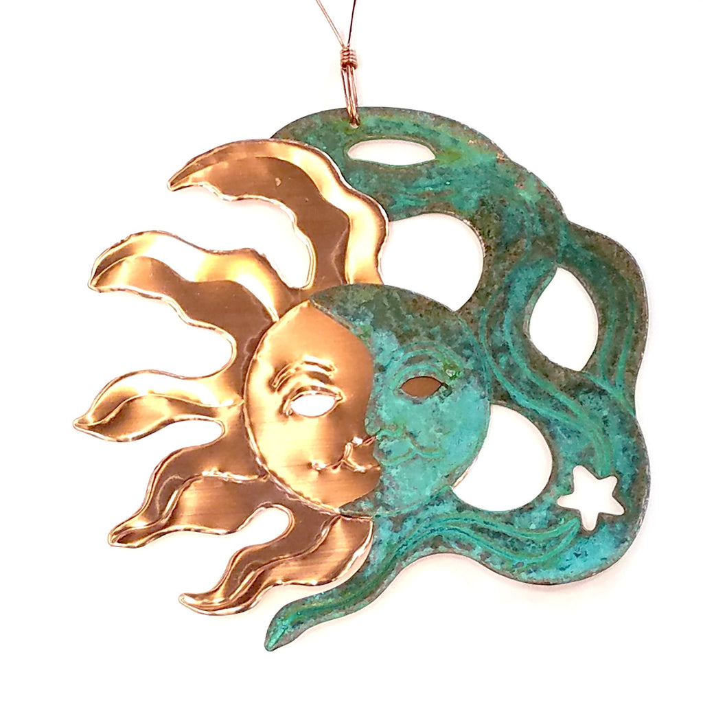 Copper Ornament-Sun & Moon
