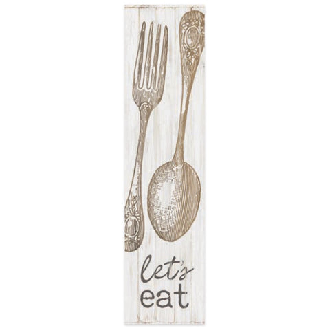 lets eat wooden art block p graham dunn