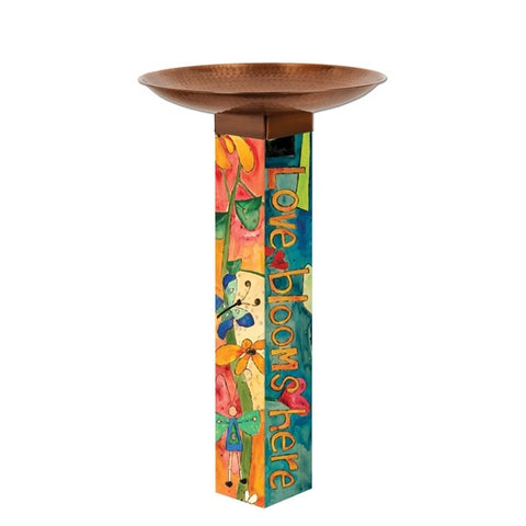 Bird Bath Art Poles