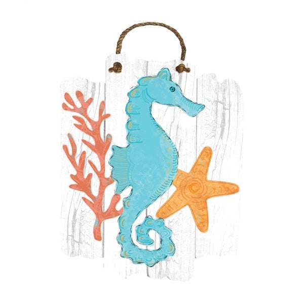 Door Decor-Sea Horse & Coral