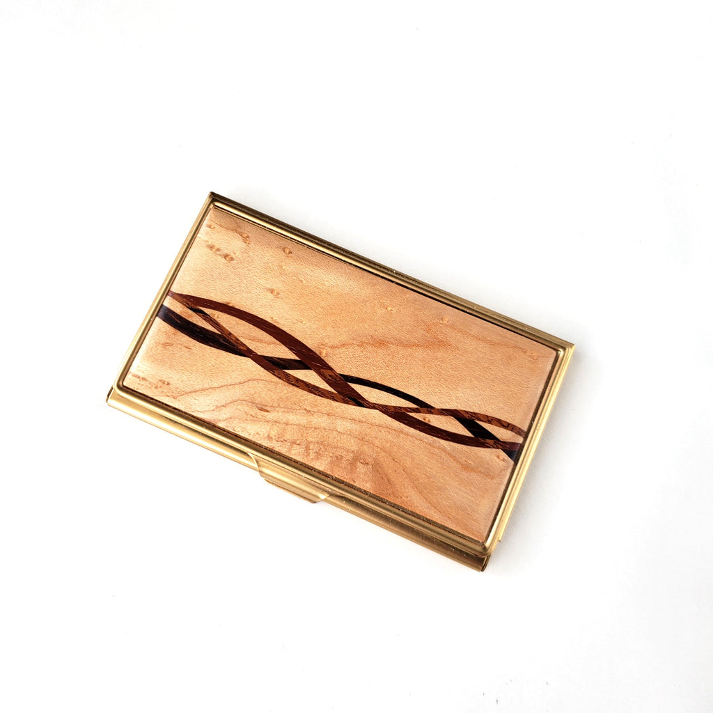 Business Card Case-Maple Inlay