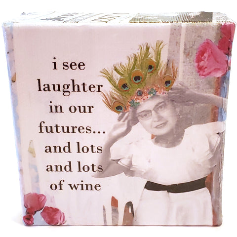 Lots of Wine Mini Canvas Artwork | Erin Smith Art | Hell Yeah